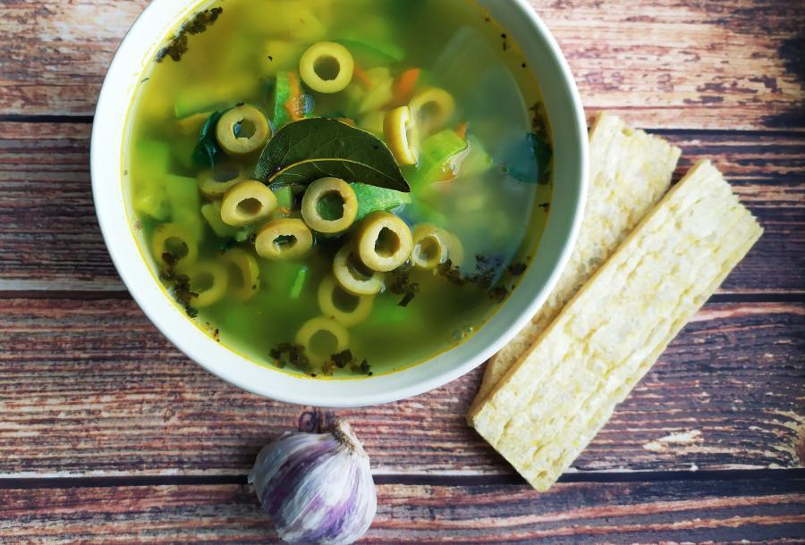 Постный суп из кабачков