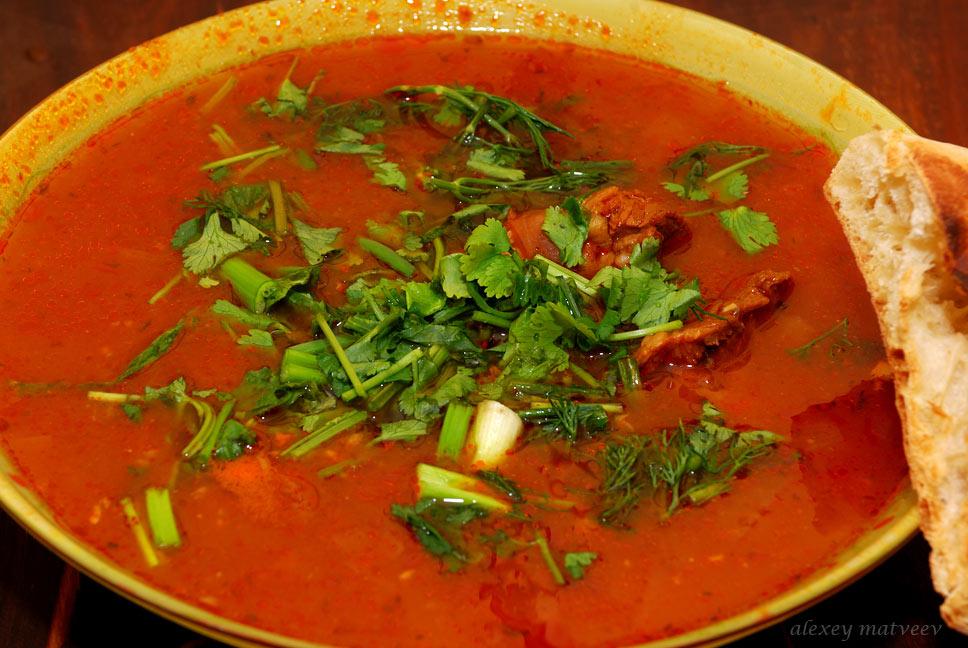 Кулинарный рецепт Супа Харчо. Быстро, просто, а главное вкусно