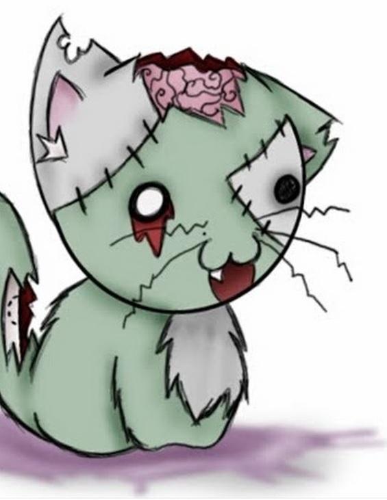 Наш зомби-кот.