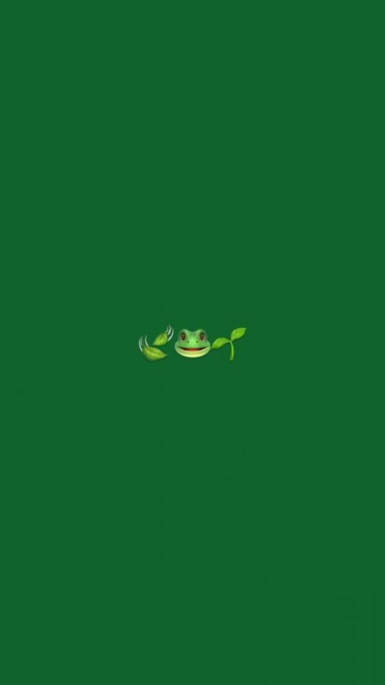 Эмодзи обои в зелёном стиле. Специально для твоего телефона ♥️