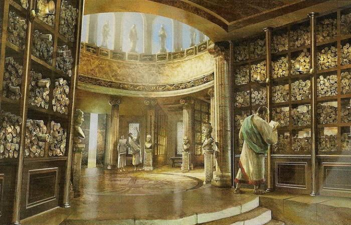 Как называлась знаменитая библиотека древнего мира, ставшая одним из семи чудес света?