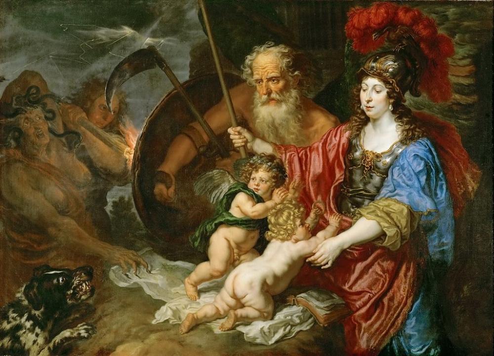 Кто построил все божественные дворцы Олимпа и изготовлял молнии Зевса?