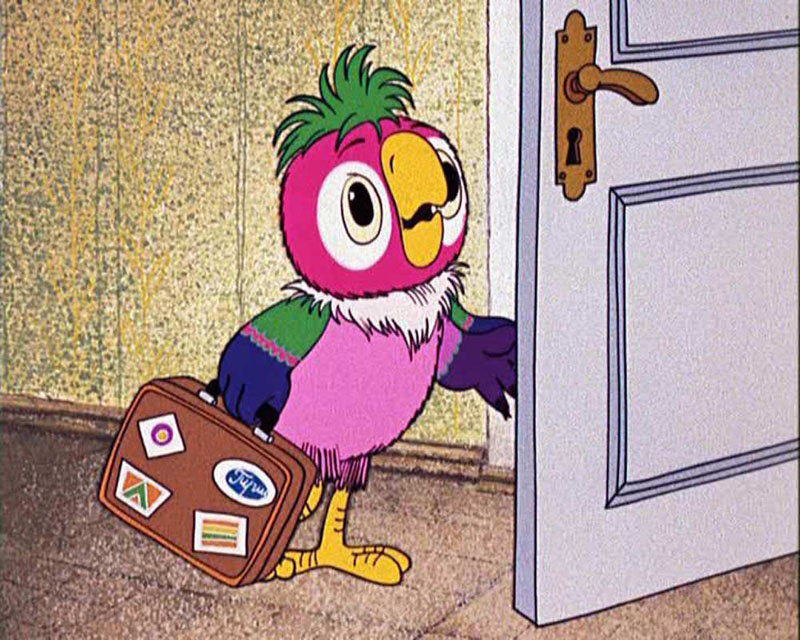 Попугай Кеша из мультфильма Возвращение блудного попугая