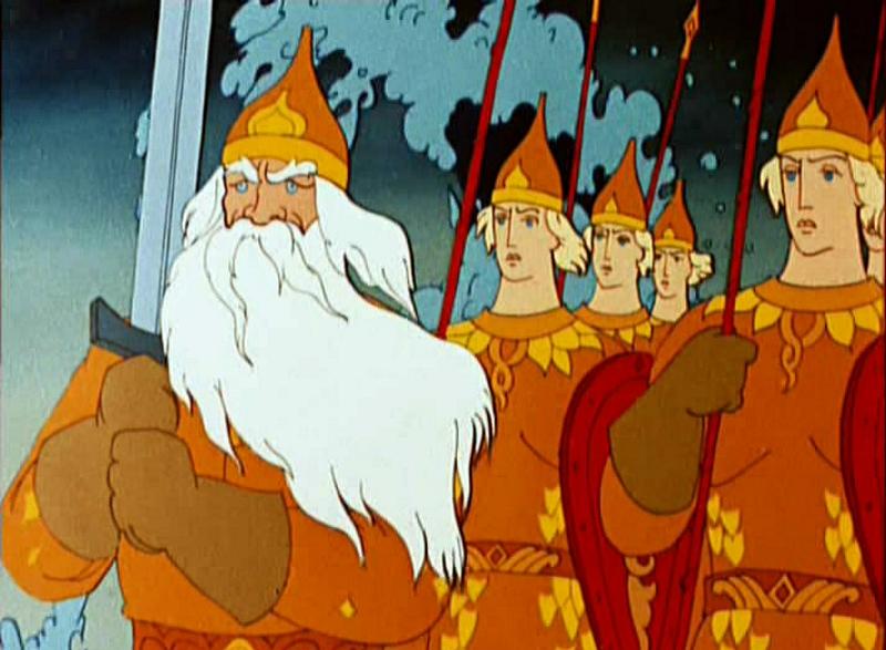 Сколько богатырей было в свите Черномора?